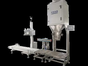 Semi-automatic plastic granule bagging machine
