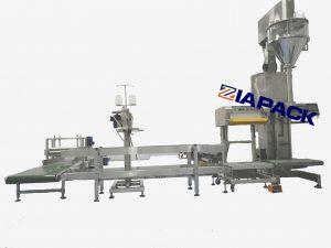 Halvautomatisk påfyldningsmaskine til pulvervejning