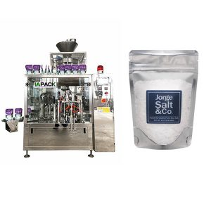 Automatisk Rotary Premade Bag Packing Machine til Salt