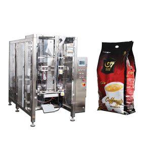 Kaffe Quad Bag Form Fill Seal emballage maskine