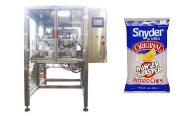 kontinuerlig bevægelse vertikale snack mad granule pakning maskine