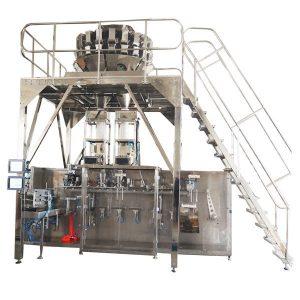 Horisontal præfabrikeret emballeringsmaskine med multihead skalaer til granuler