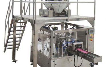 roterende automatisk lynlås taske fyld pakning maskine til frø nødder