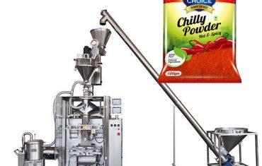 vffs bagger pakningsmaskine med skruer til paprika og chili madpulver