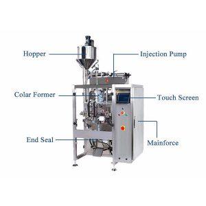 Vertikal Form Fill Seal Machine Med Pistion Filler For Liquid